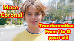 Mace Coronel's transformation (from 1 to 13 years old)
