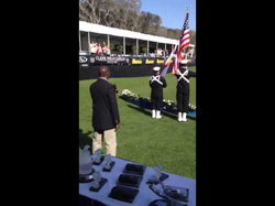 Donald Osborne, Baritone, sings 'The Star Spangled Banner', to open the 2013 Amelia Island Concours d'Elegance on March 10, 2013.