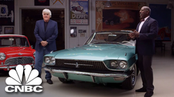Jay Leno's Garage                              : Appraiser Donald Osborne And Jay Leno Assess Great Movie Cars |                               CNBC                               Prime