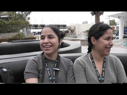 America and Penelope Lopez being interviewed at the AT&T Hackathon (January 2016)