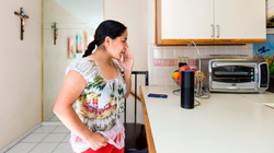CyberCode Twins talking to Alexa on AirBnb Citizen