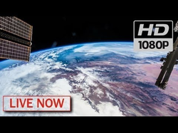 A NASA live feed of Earth from Space