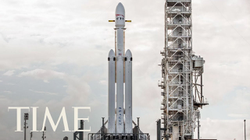 Falcon Heavy on                               YouTube                              ​ during the launch on February 6
