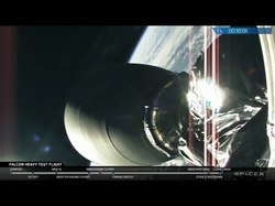 The                               SpaceX                              ​ stream of the launch