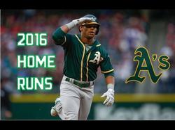 Khris Davis's 42 home runs (2016)