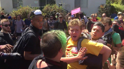 Antifa beating up a boy and his father in August of 2017