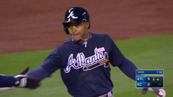 Mallex Smith hits his first career triple and the Braves' first triple of the 2016 season
