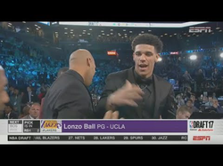 LA Lakers Choose Lonzo Ball 2nd Pick of the 2017 NBA Draft & Interview with Lonzo & LaVar.