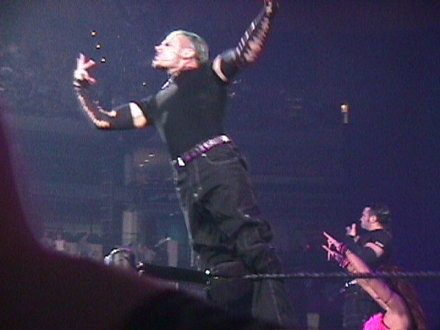 Team Extreme doing their entrance routine during the King of the Ring event in June 2000