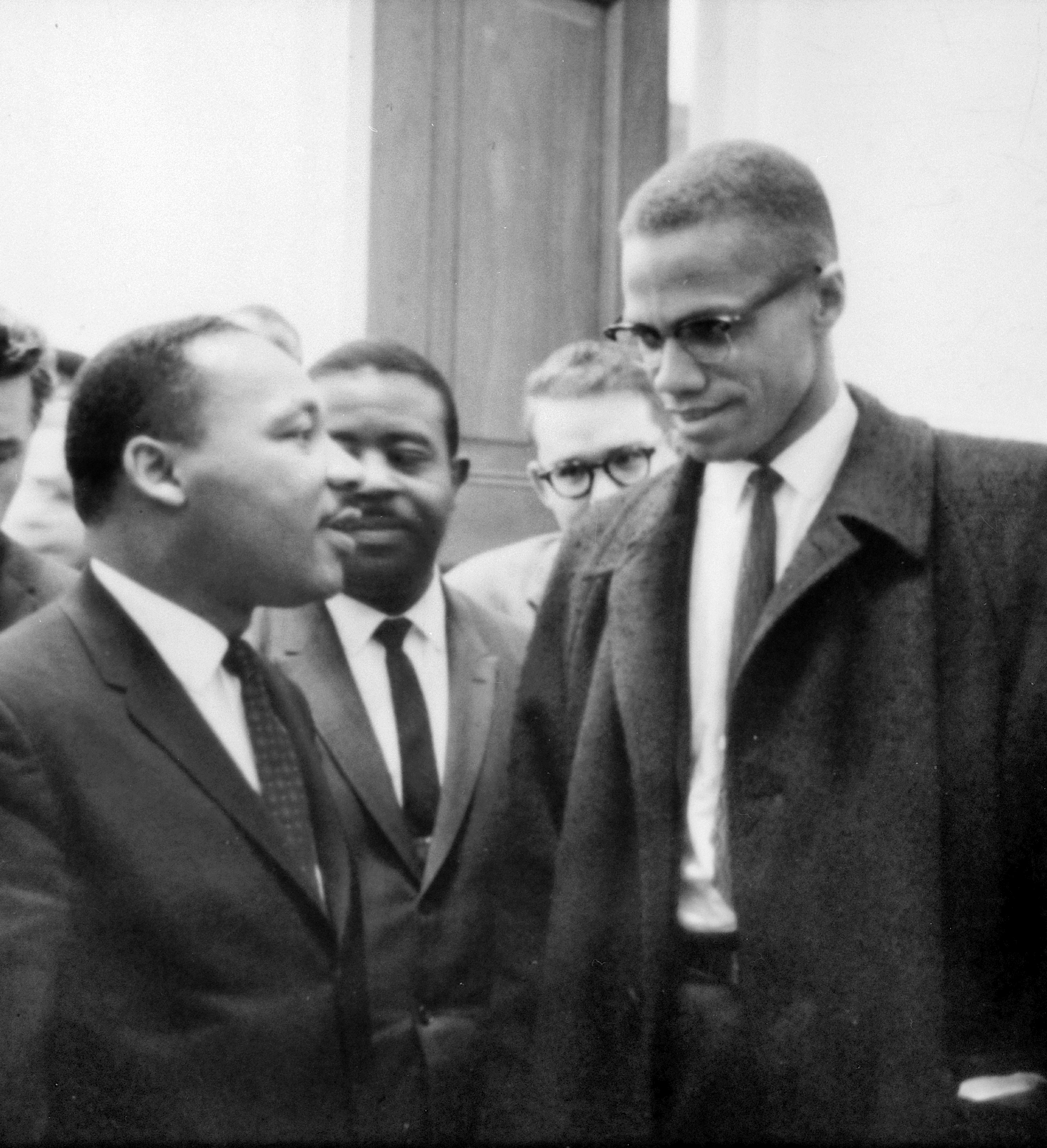 Martin Luther King Jr. and Malcolm X, March 26, 1964