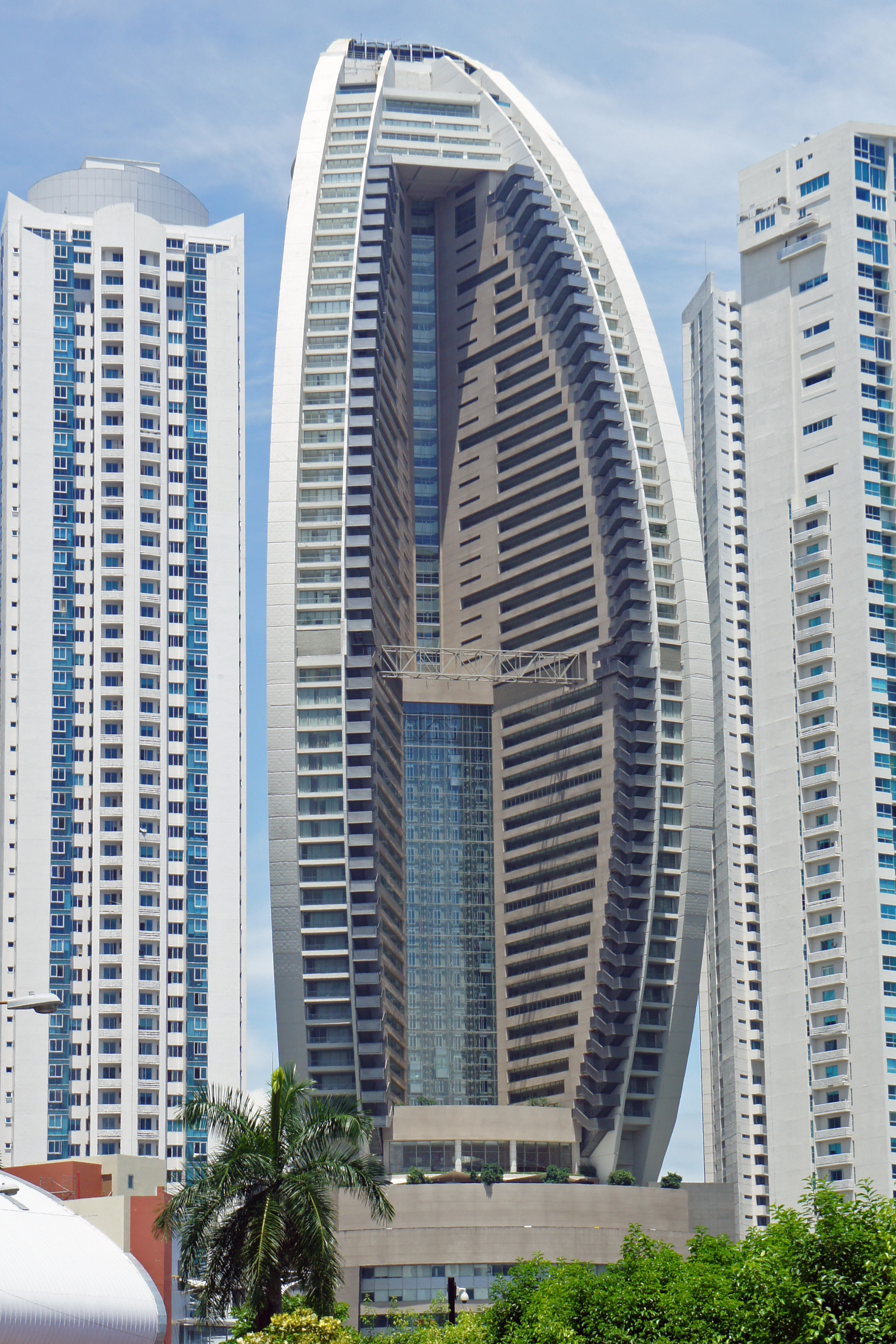 The Trump Organization owns, operates, develops, and invests in real estate worldwide such as Trump Ocean Club International Hotel and Tower (center) in Panama City, Panama.