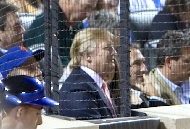 Trump at a game in 2009