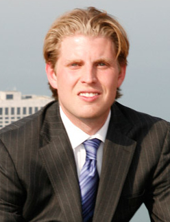 Trump's second-oldest son Eric in 2010