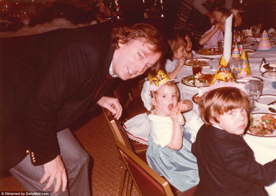 Donald attending another birthday party with kidsIvankaandDonald Trump Jr