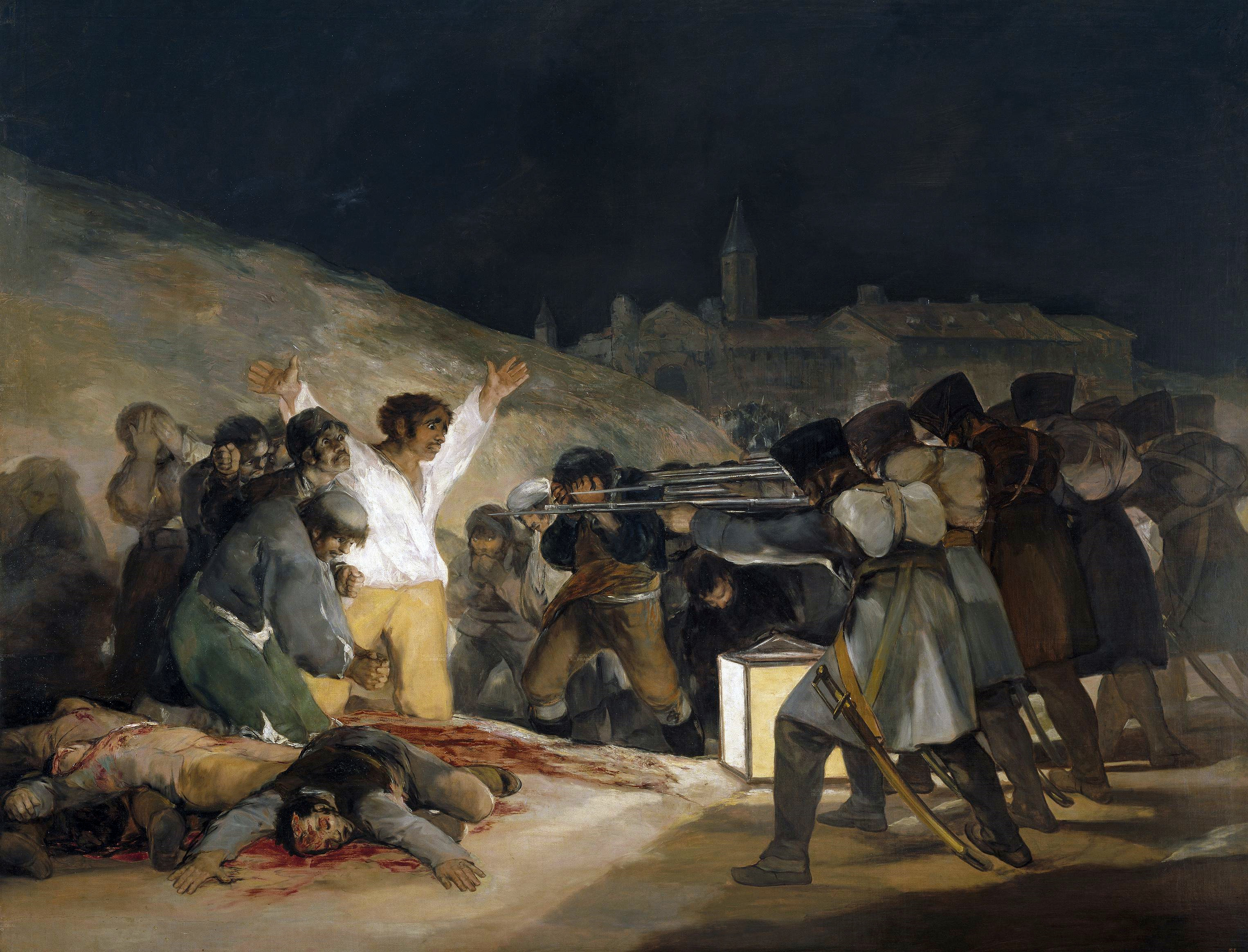 The Third of May 1808 by Francisco Goya, showing Spanish resisters being executed by Napoleon's troops.