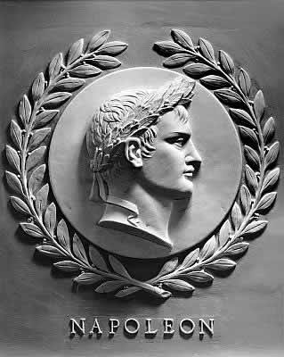 Bas-relief of Napoleon I in the chamber of the United States House of Representatives