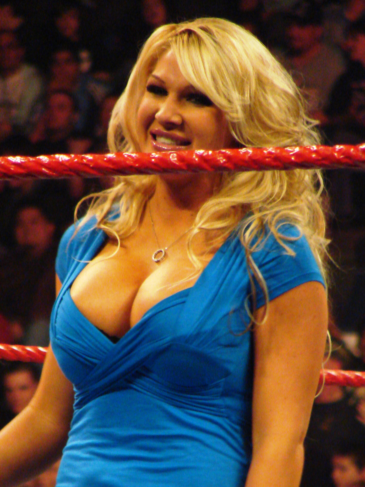 Jillian during a WWE Raw event in March 2008.