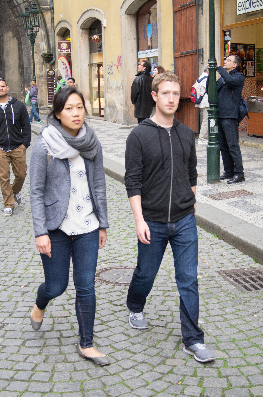 Chan and Zuckerberg in Prague (2013)