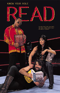 The WWF Get R.E.A.L program encouraged literacy with posters. In 2000, this poster was a bestseller across U.S. libraries nationwide