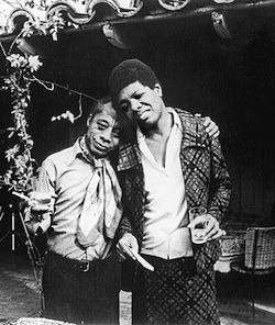 Angelou's friend James Baldwin was instrumental in the publication of her first autobiography.