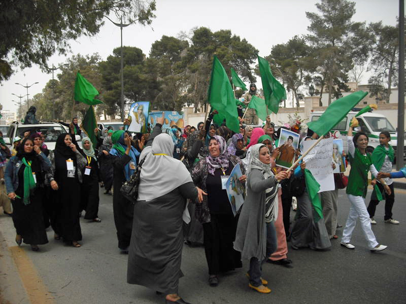Pro-Gaddafi protests in Tripoli, May 2011