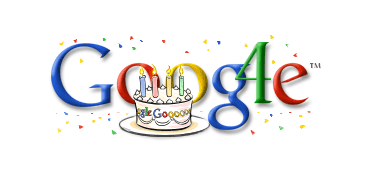 The firstGoogle Doodlein 2002 to honor its own inception.