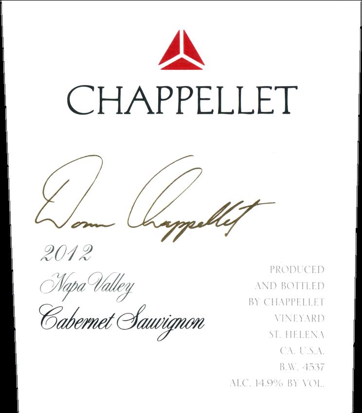 2012 Chappellet Signature Napa Cabernet Sauvignon