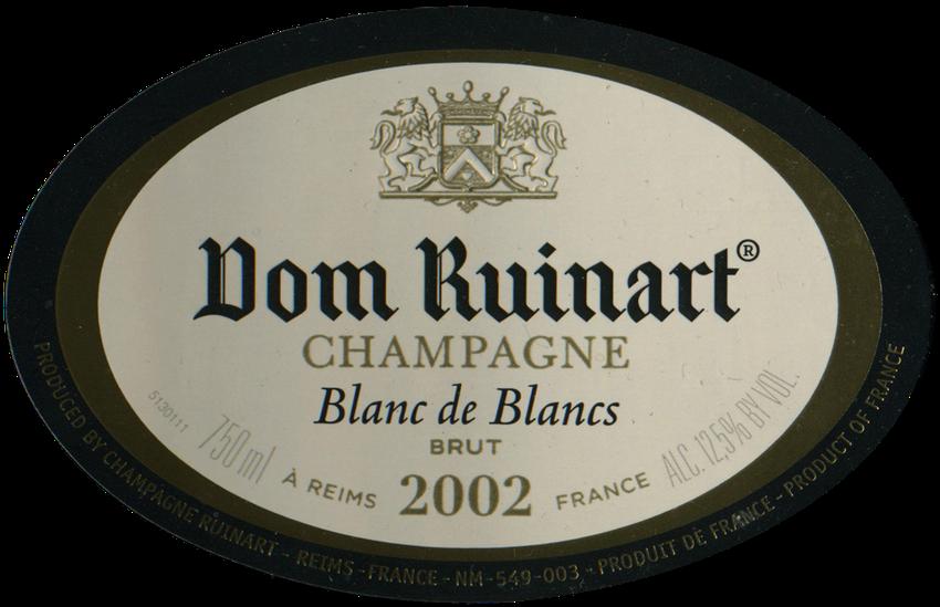 2002 Dom Ruinart Brut Vintage Blanc De Blancs