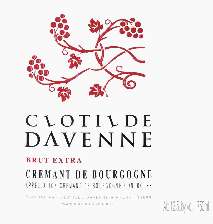 Clotilde Davenne Extra Brut Cremant De Bourgogne