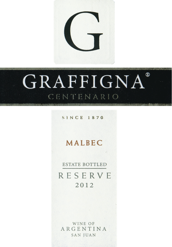 2012 Graffigna Malbec Reserve Centenario