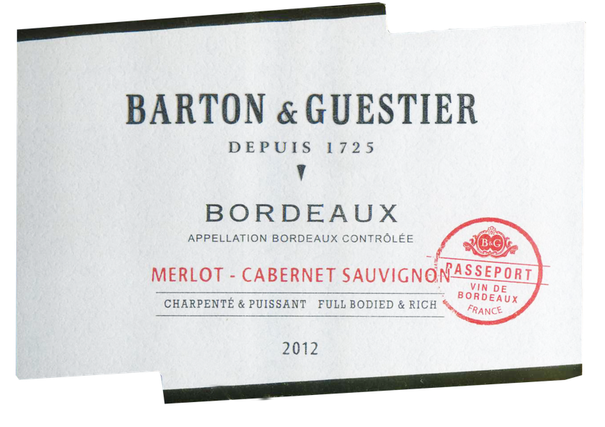 2012 Barton & Guestier (B&G Passporte) Bordeaux Red