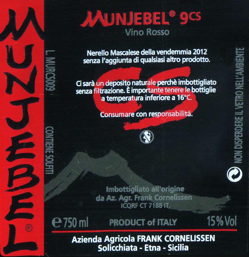 Frank Cornelissen Munjebel Cs #9