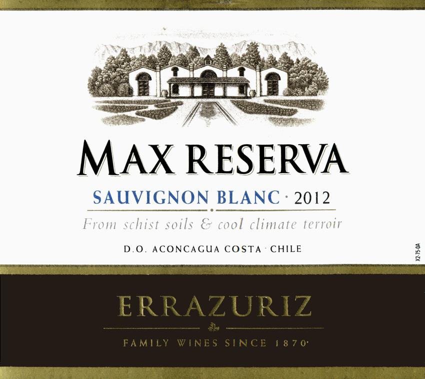 2012 Errazuriz Max Reserva Sauvignon Blanc