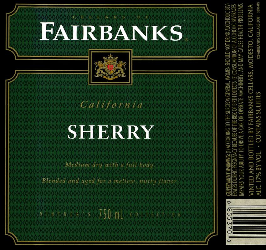Gallo Fairbanks Sherry