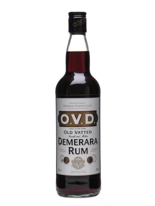 O V D Old Vatted Demerara Rum