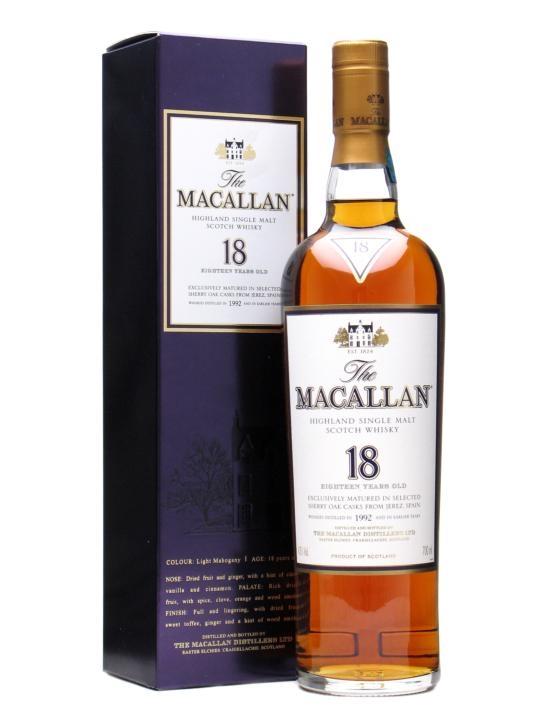 Macallan 1992 18 Year Old Sherry Oak