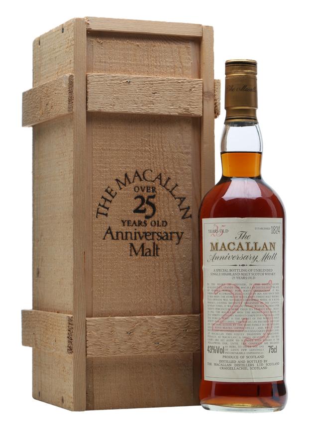 Macallan 25 Year Old Sherry Oak Anniversary