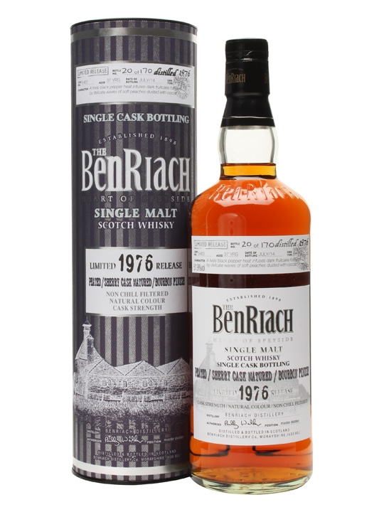 Benriach 1976 37 Year Old Peated Bourbon Finish