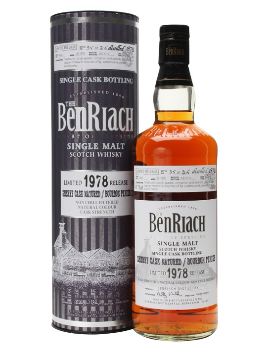 Benriach 1978 36 Year Old Bourbon Finish Cask #5469