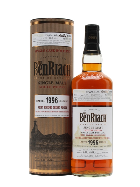 Benriach 1996 18 Year Old PX Sherry Finish #3607