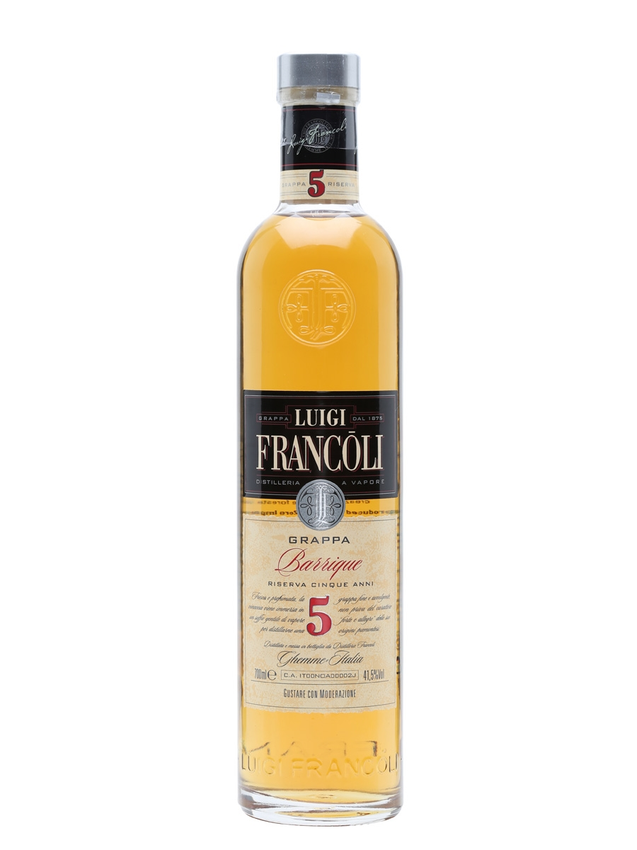 Luigi Francoli Grappa Barrique Riserva 5 Year Old