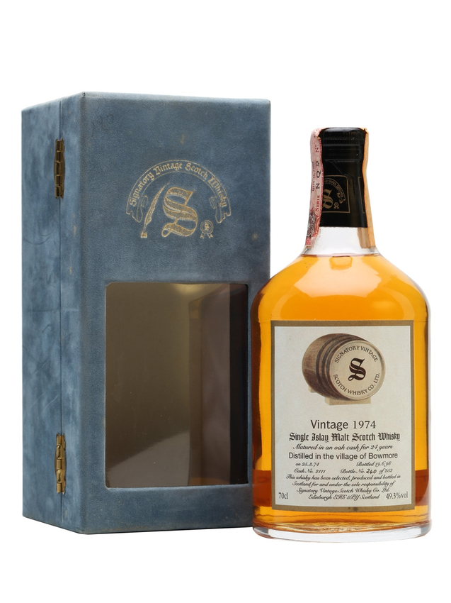 Bowmore 1974 24 Year Old Cask #2111 Signatory