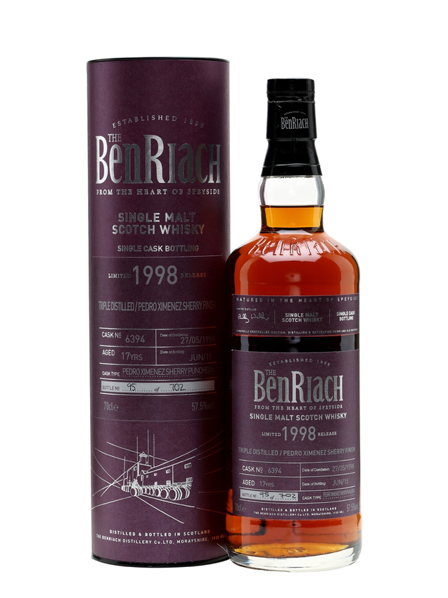 Benriach 1998 17 Year Old Triple Distilled PX Finish