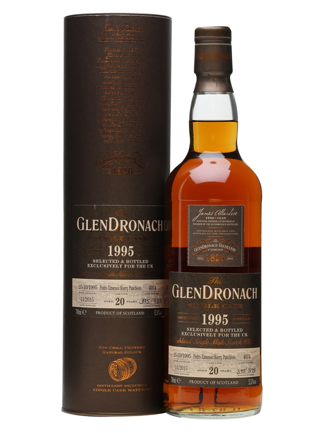 Glendronach 1995 20 Year Old PX Puncheon #4074