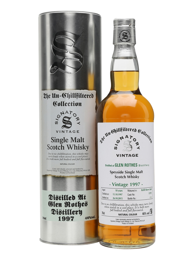 Glenrothes 1997 18 Year Old Signatory