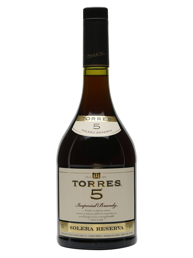 Torres 5 Solera Reserva Imperial Brandy 5 Year Old Litre