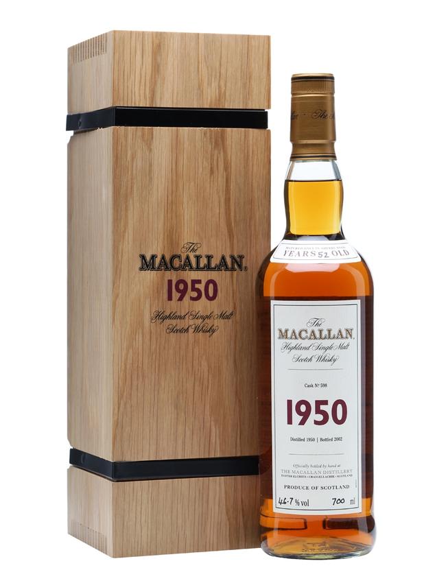 Macallan 1950 52 Year Old Fine & Rare Cask #598