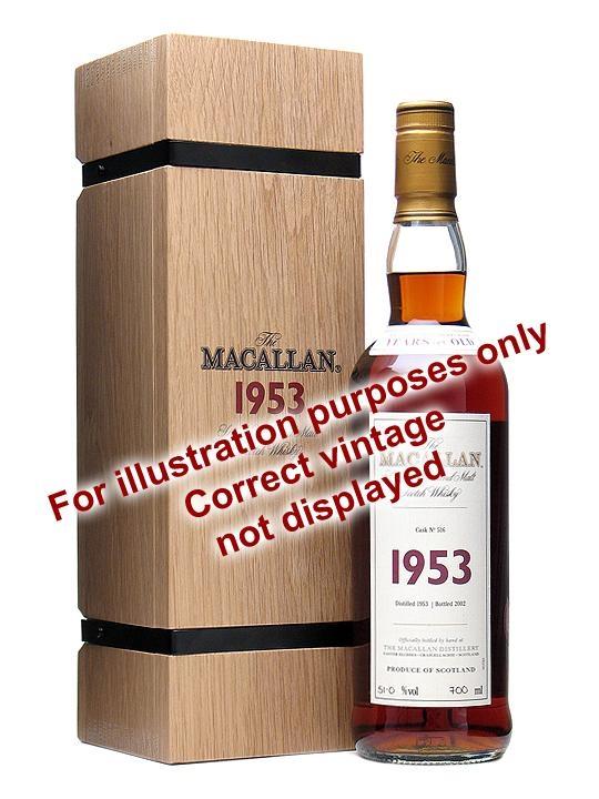 Macallan 1950 52 Year Old Fine & Rare Cask #600