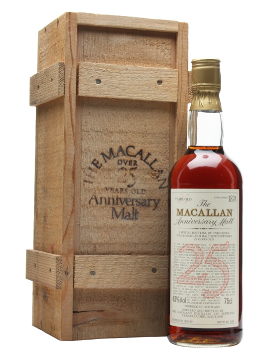 Macallan 1958-59 25 Year Old Anniversary Malt
