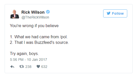 Wilson denies that he is the source